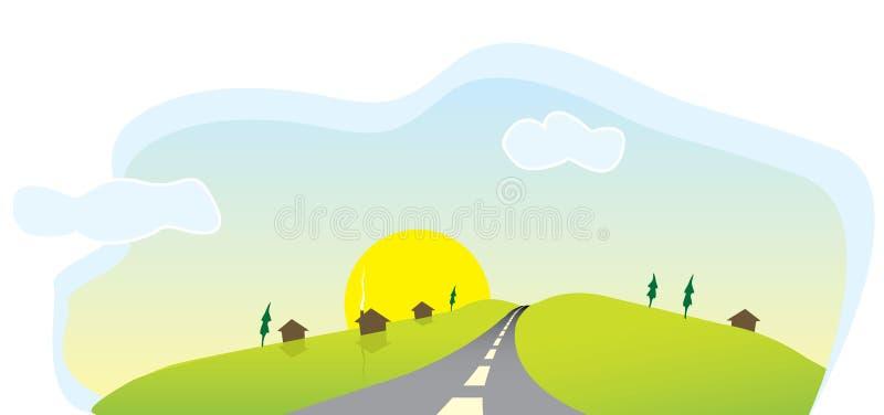 Download Village illustration de vecteur. Illustration du voie - 8669373