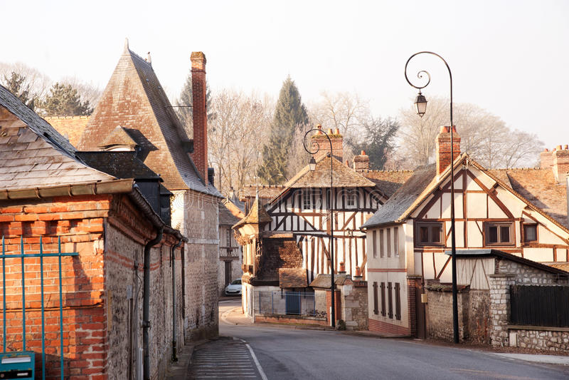 Village Of Acquigny Stock Photo