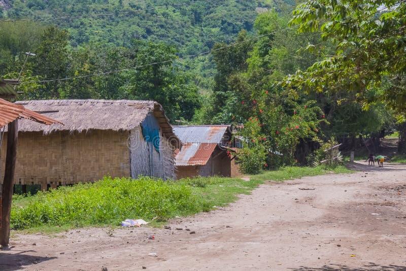 Village Aeta de Sapang Uwak photo stock