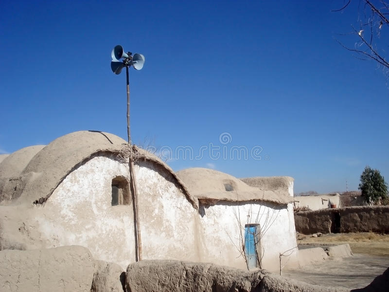 Village from Afghanistan stock photo