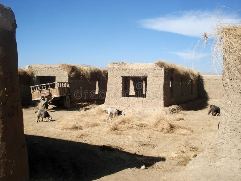 Village from Afghanistan stock photography