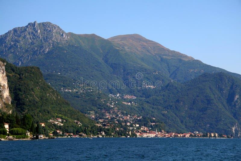 Village along Lake Como, Italy stock photo