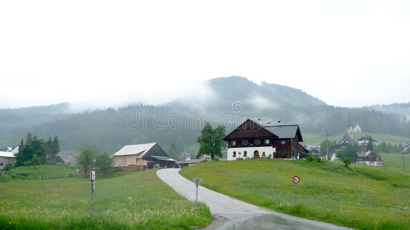 Download Village by alps stock image. Image of daisy, alley, bright - 13051473