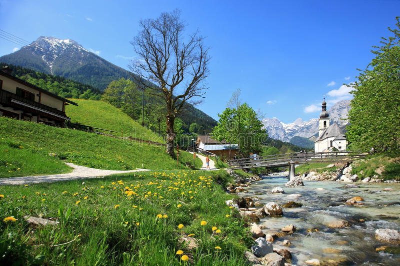 Village In The Alps royalty free stock image