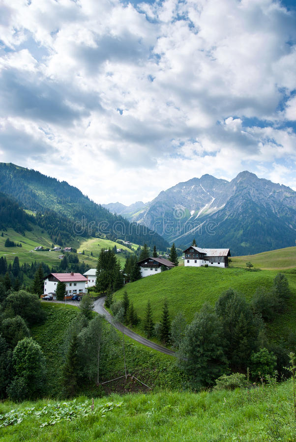 Village In The Alps Royalty Free Stock Photography