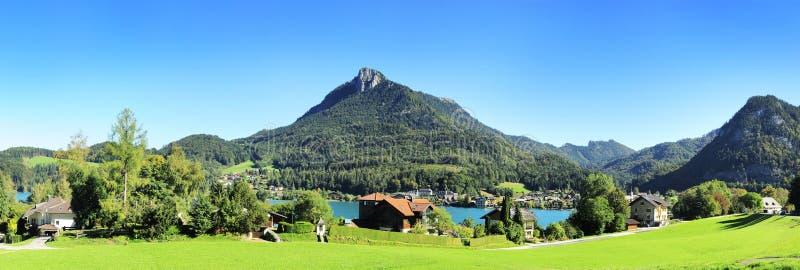 Village In Alps Stock Photos