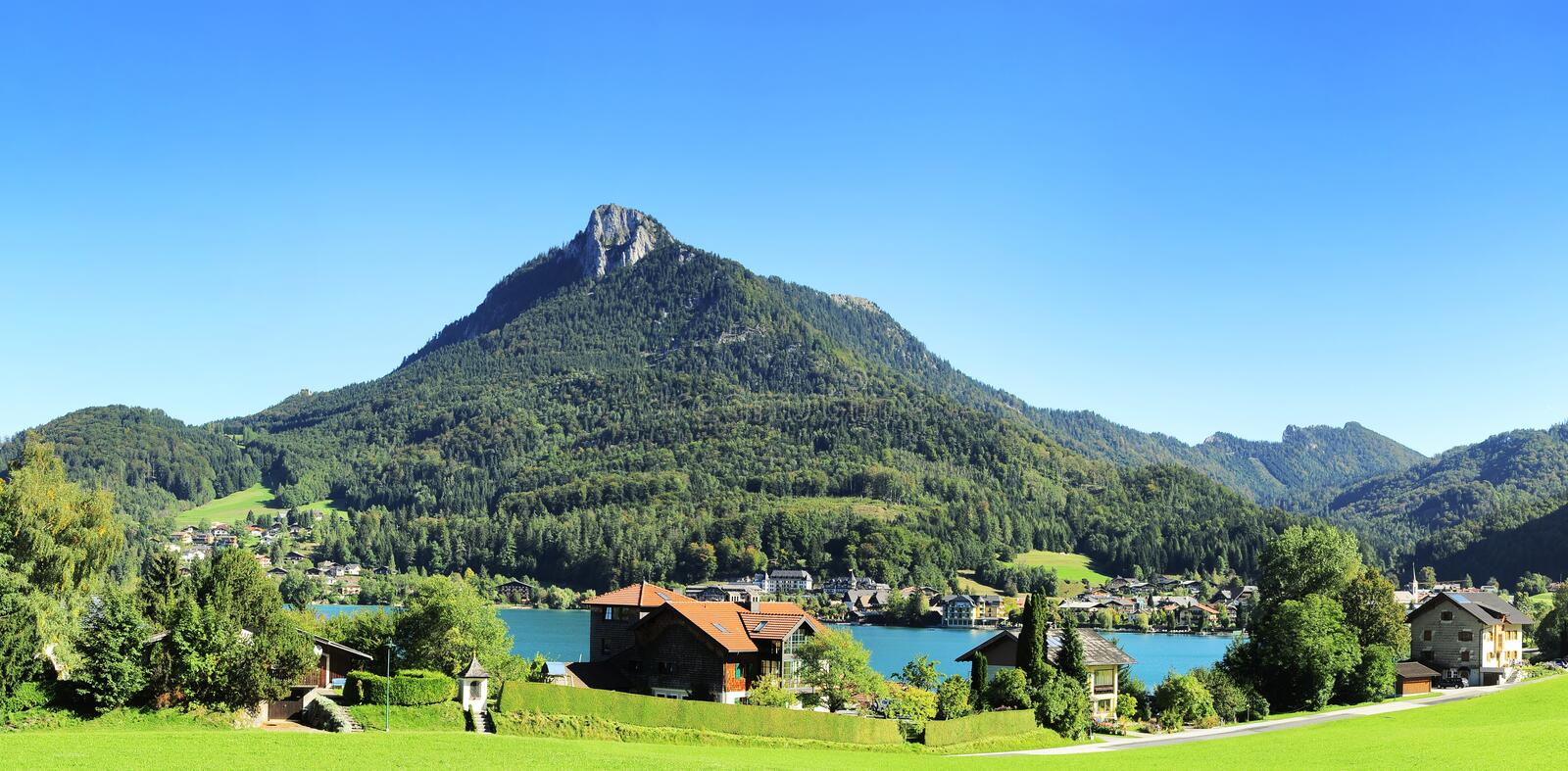 Download Village In Alps Stock Photography - Image: 28018542