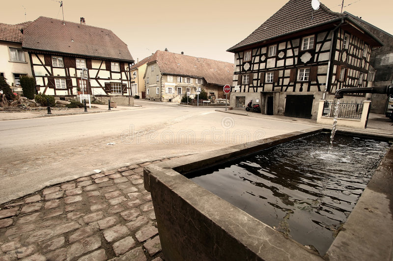 Village In Alsace Stock Image