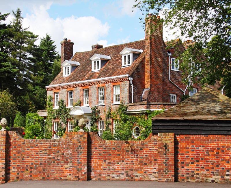 village anglais de manoir de maison photographie stock