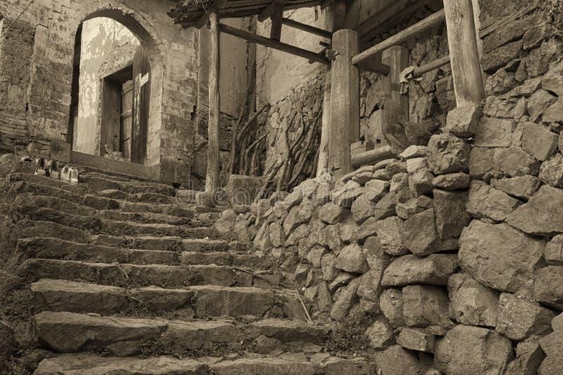Village antique images stock