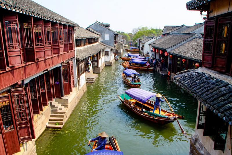 Village antique de l'eau de la Chine images stock