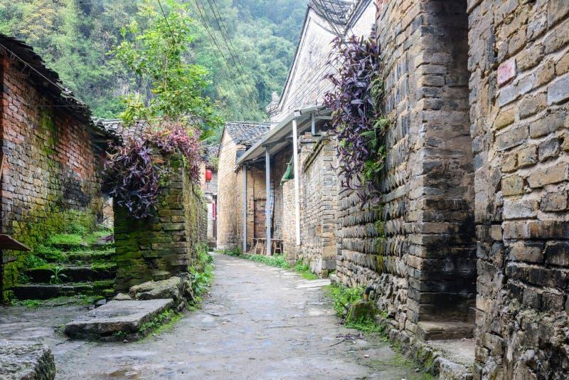 Village antique de Longtan photographie stock