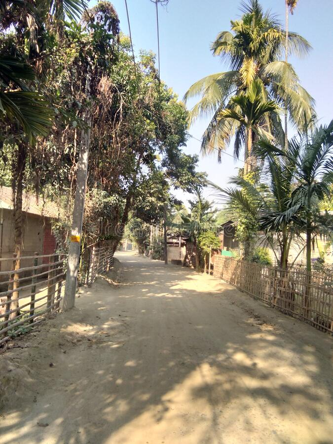 Village area in the state of Assam India. Situated in barpeta district royalty free stock photography