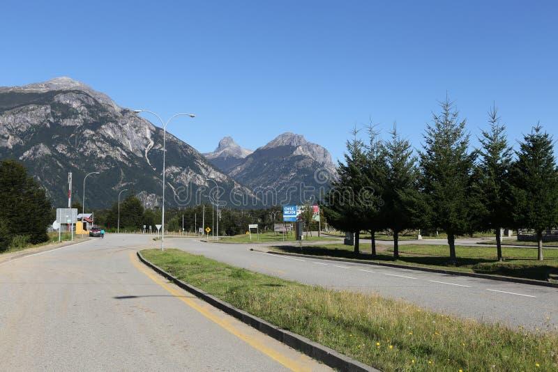 Village austral d'Amengual de carretera du Chili images stock