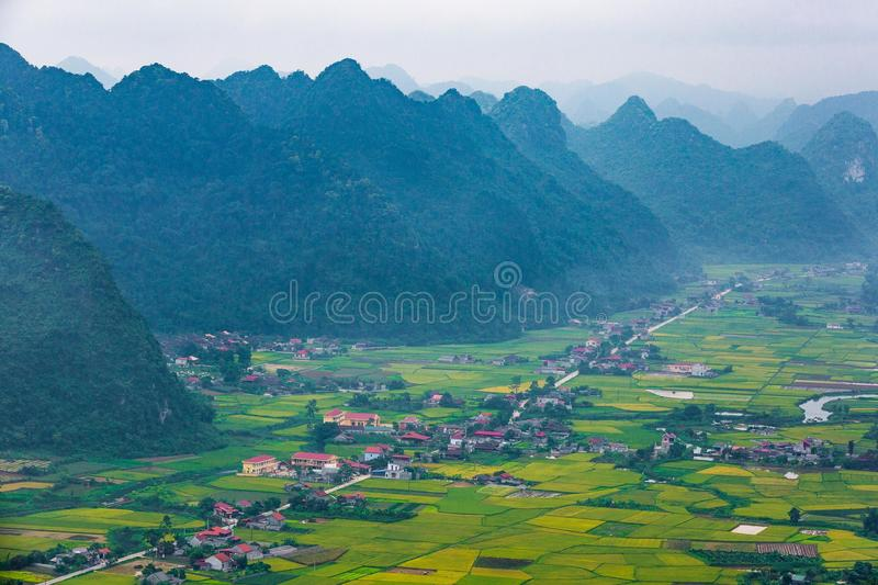 The village in BacSon - Vietnam. The coutryside in BacSon - Lang Son, Vietnam stock image