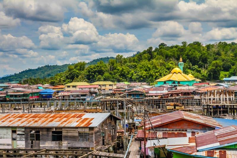 Village-Bandar Seri Begawan, Brunei de l'eau image libre de droits