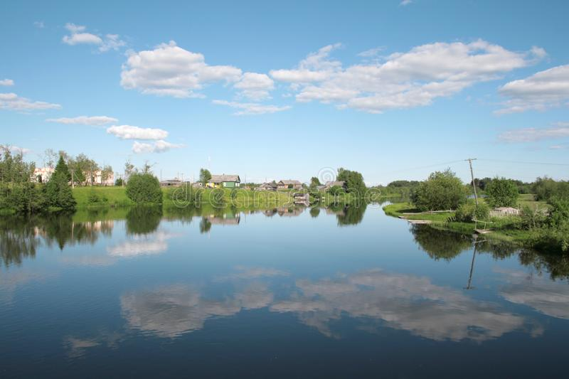 Download Village On The Bank Of The River Stock Image - Image: 5883071