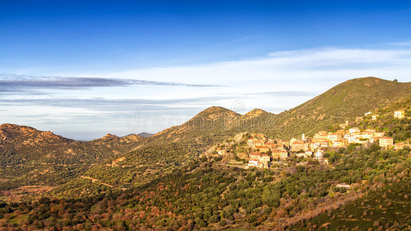 The Village Of Belgodere In Corsica Stock Photography