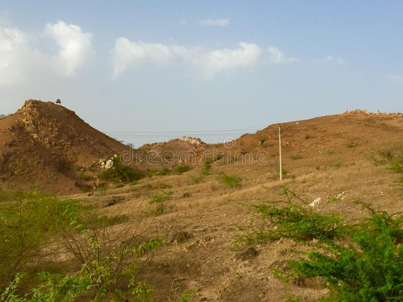 Mountain and natural background greentree. Rajasthan banetha picture mountain and natural beauty background colour greentree India pincod no304024 royalty free stock image