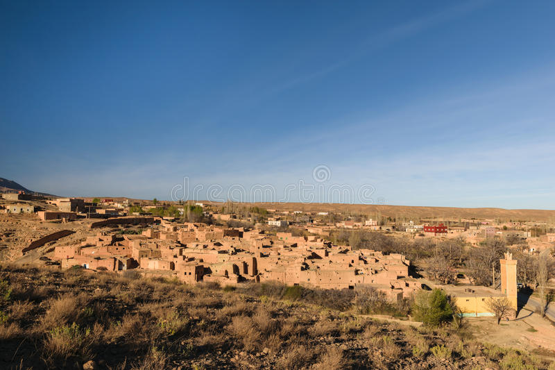Village of Berrem near Midelt, Morocco. The village of Berrem is about 6 km west of Midelt. The village is smoothly shaded by ancient walnut trees and a nice royalty free stock photos