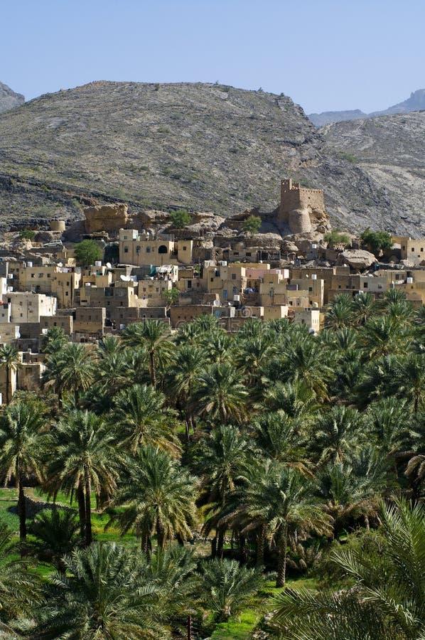 The village Bilad Sayt royalty free stock photo