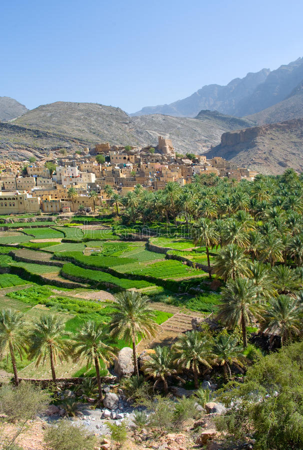 The village Bilad Sayt, Oman stock photography