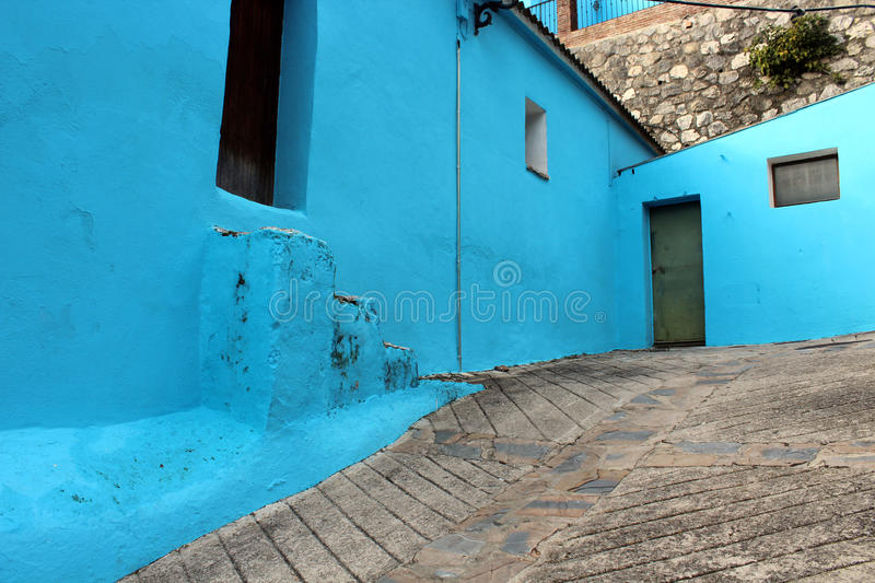 Download Village with blue houses stock image. Image of architecture - 83724069