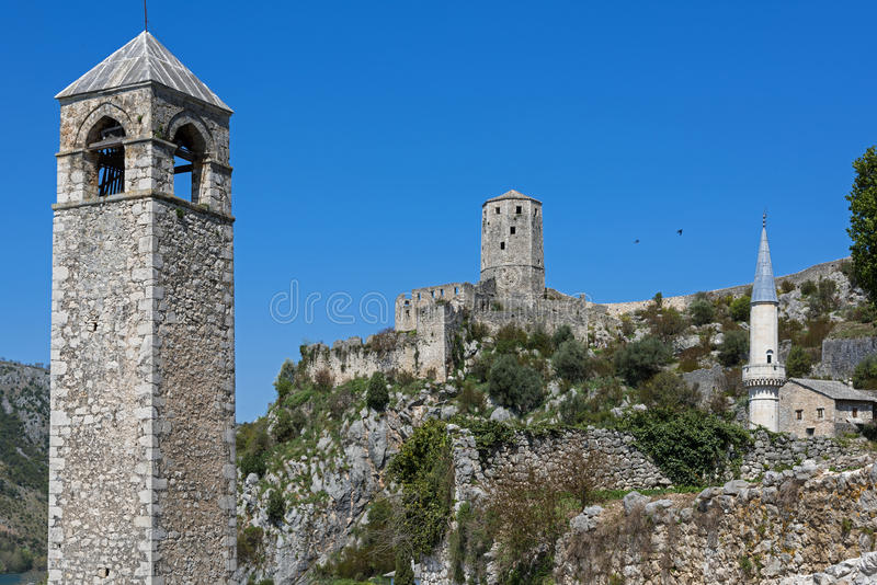 Village in Bosnia and Herzegovina. The castle of Pocitelj, Bosnia and Herzegovina stock photos
