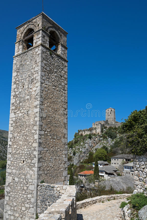 Village in Bosnia and Herzegovina. The castle of Pocitelj, Bosnia and Herzegovina royalty free stock image