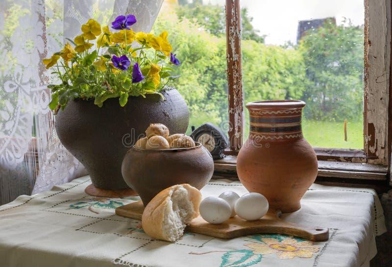 Village Breakfast. stock images