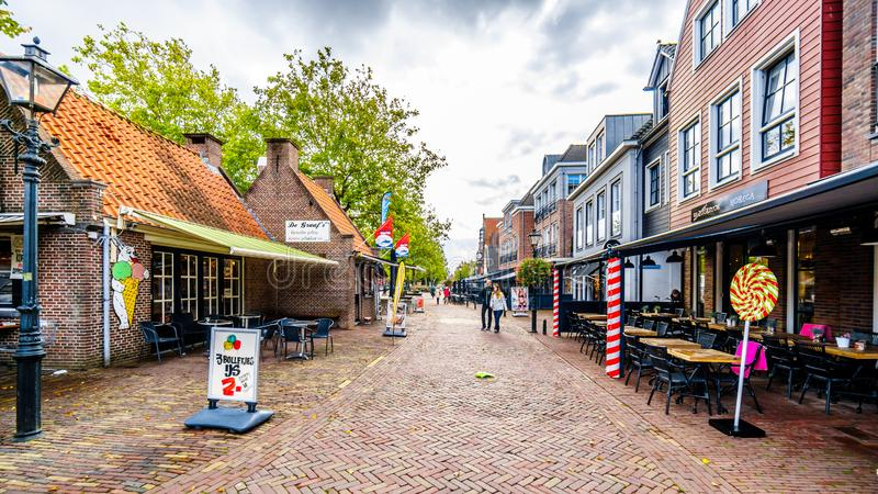 The village of Bunschoten-Spakenburg in the Netherlands. Cobbelstone street scenes from the historic fishing village of Bunschoten-Spakenburg in the Netherlands royalty free stock images
