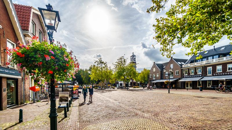The village of Bunschoten-Spakenburg in the Netherlands. Cobbelstone street scenes from the historic fishing village of Bunschoten-Spakenburg in the Netherlands royalty free stock photo