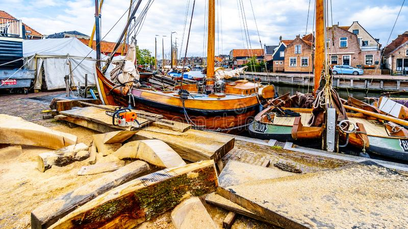 The village of Bunschoten-Spakenburg in the Netherlands. Cobbelstone street scenes from the historic fishing village of Bunschoten-Spakenburg in the Netherlands stock photography