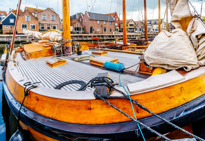 The village of Bunschoten-Spakenburg in the Netherlands. Cobbelstone street scenes from the historic fishing village of Bunschoten-Spakenburg in the Netherlands stock photos