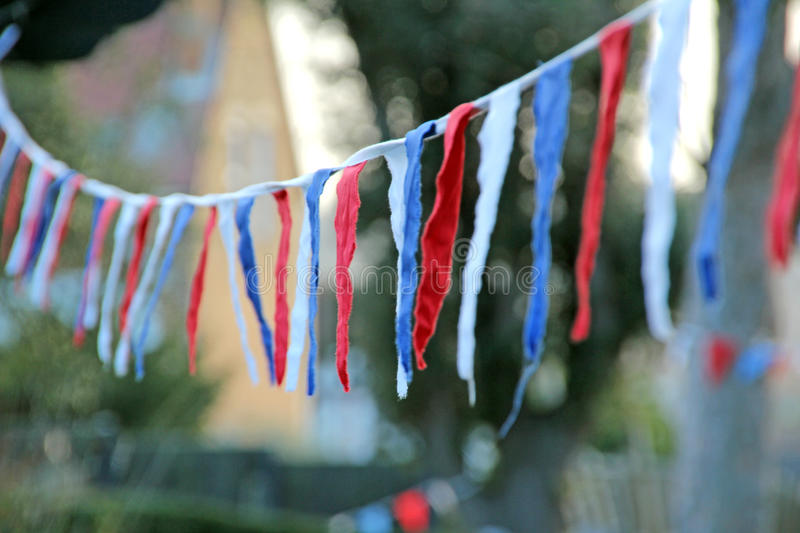 Village bunting stock images