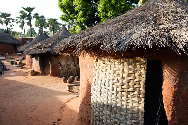 Village in Burkina Faso. Typical houses in village in Burkina Faso royalty free stock photo