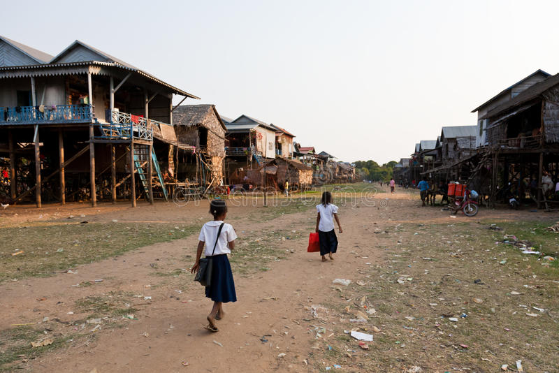 Village cambodgien images stock