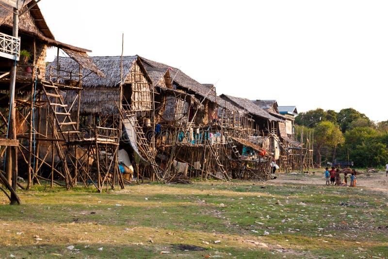 Village cambodgien photo libre de droits