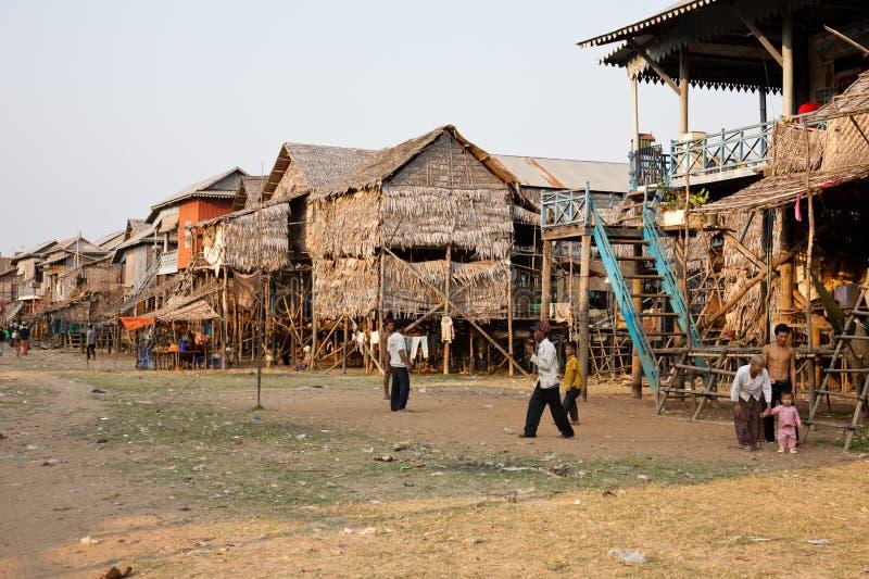 Village cambodgien photographie stock libre de droits