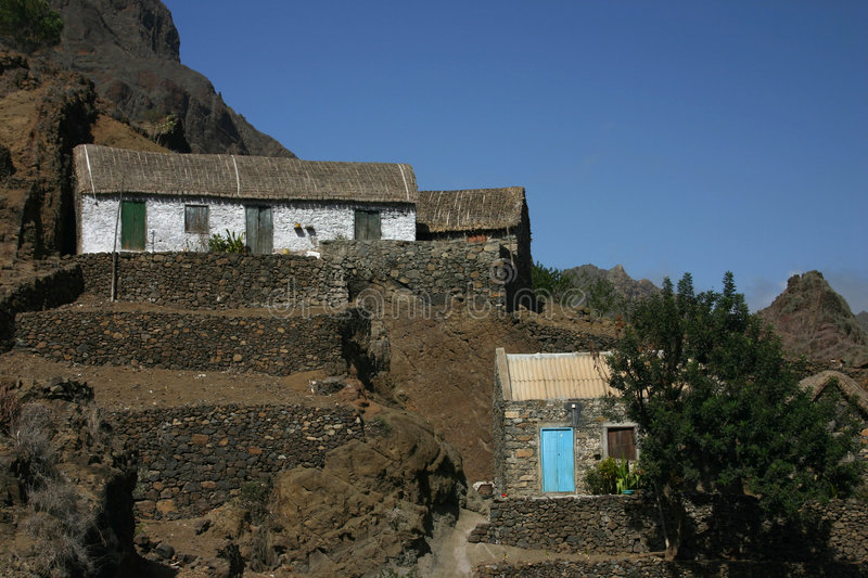 Village of Cape Verde royalty free stock photo