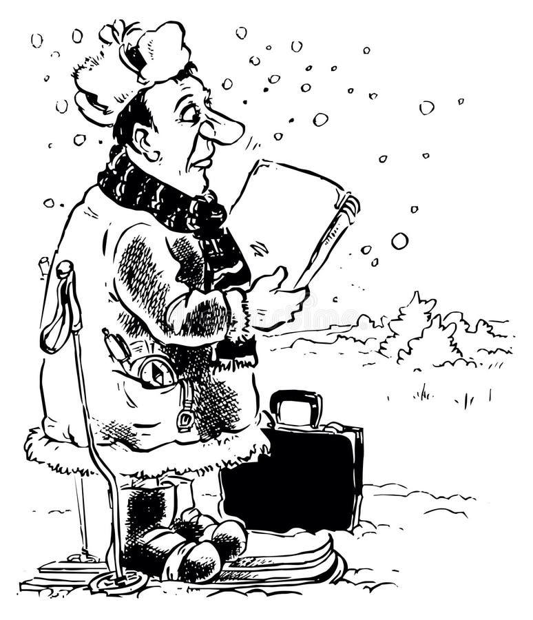 Download Village carrier stock illustration. Image of postman - 12251471
