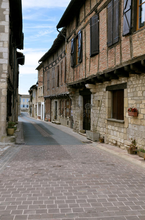 Village of Castelnau of Montmiral in France stock image