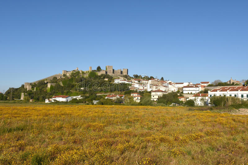 Village and castle of Montemor o velho, Beiras. Region, Portugal stock photo