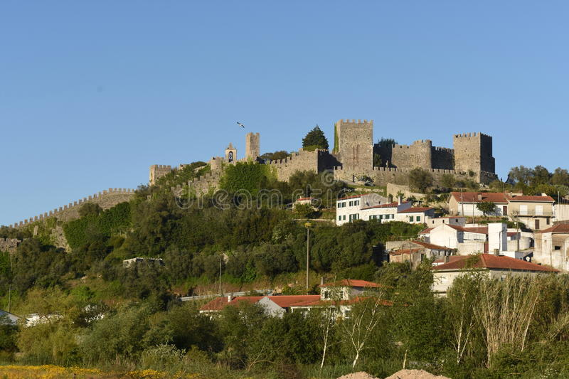 Village and castle of Montemor o velho, Beiras. Region, Portugal royalty free stock image