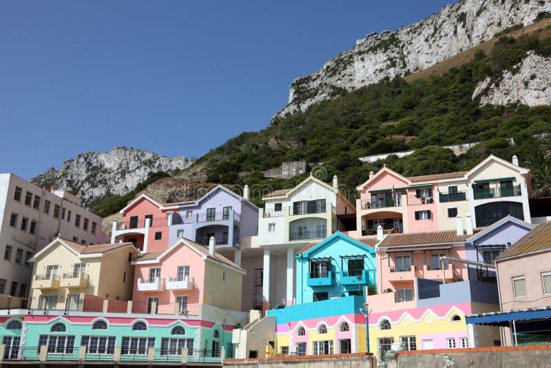 Village catalan de compartiment, Gibraltar photo stock
