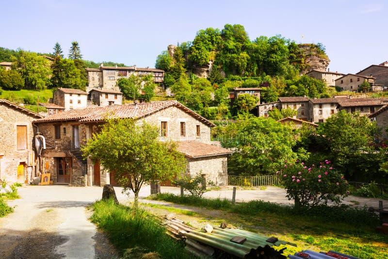 Village catalan. Rupit. La Catalogne photos libres de droits