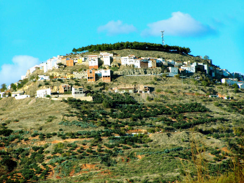 Village of Chiclana de Segura in Jaen royalty free stock images