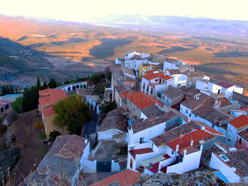 Village of Chiclana de Segura in Jaen stock image