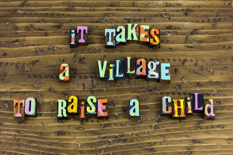 Village child raise help family royalty free stock photo