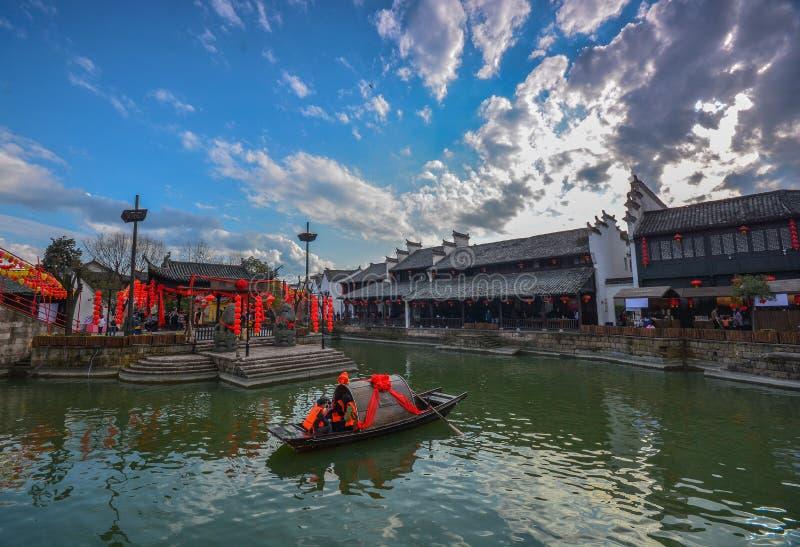 Village Chine de l'eau de Jiangnan photographie stock libre de droits
